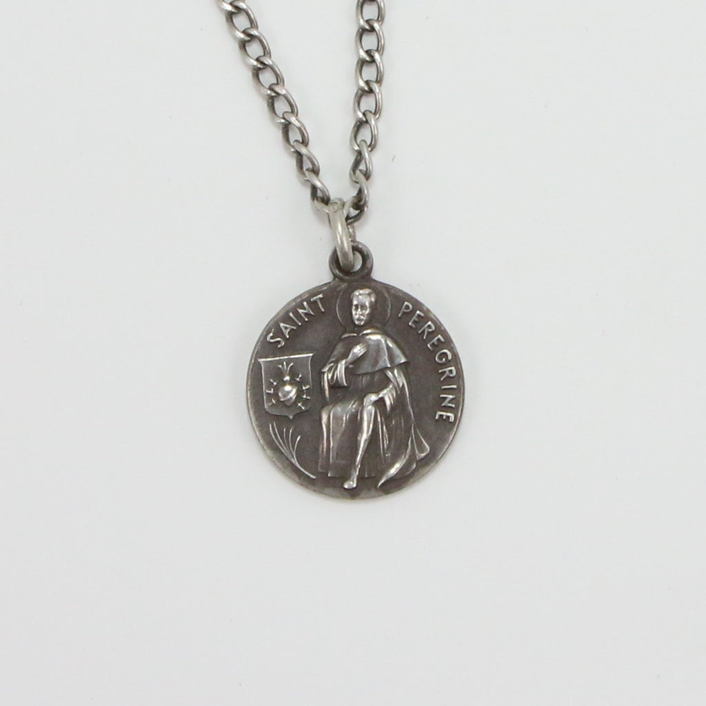 SAINT PEREGRINE RELIGIOUS MEDAL NECKLACE-Necklaces-BRETHREN + SISTREN
