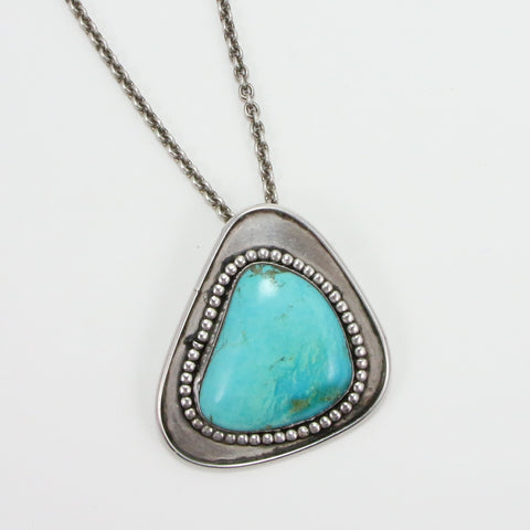 NAVAJO TURQUOISE STONE NECKLACE-Necklaces-BRETHREN + SISTREN