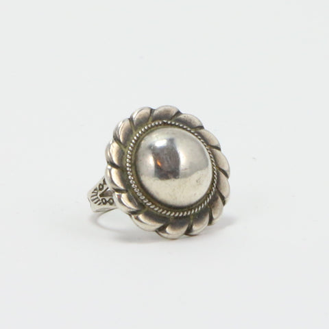 NAVAJO STAMPED DOME TOP RING - SIZE 5-Ring-BRETHREN + SISTREN