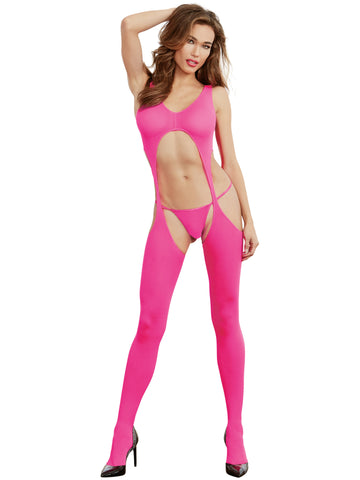 Susannah Black - Neon Pink Bodystocking