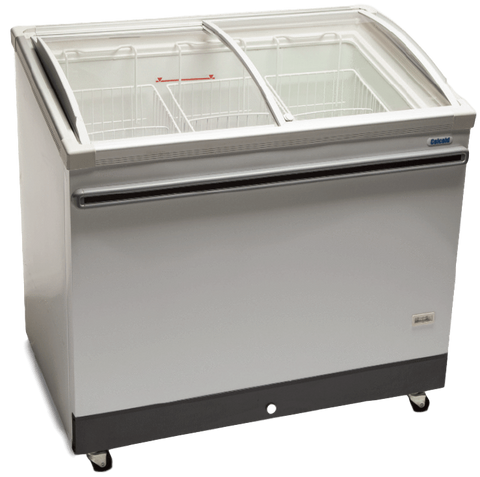 "Celcold CATF50 - 49.4"" Angle-Top Ice Cream Display Freezer - 12.9 Cu. Ft."