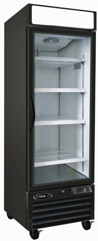"Kool-It KGF-23 - 26.8"" Single Glass Door Merchandiser Freezer - 23 Cu. Ft."