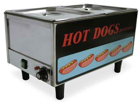 Omcan Hot Dog Steamer and Bun Steamer
