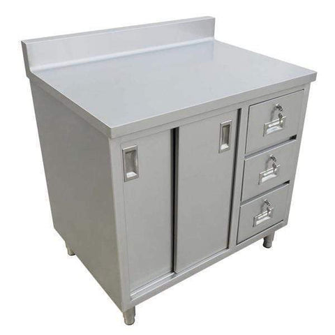 Omcan Work Table with Cabinet