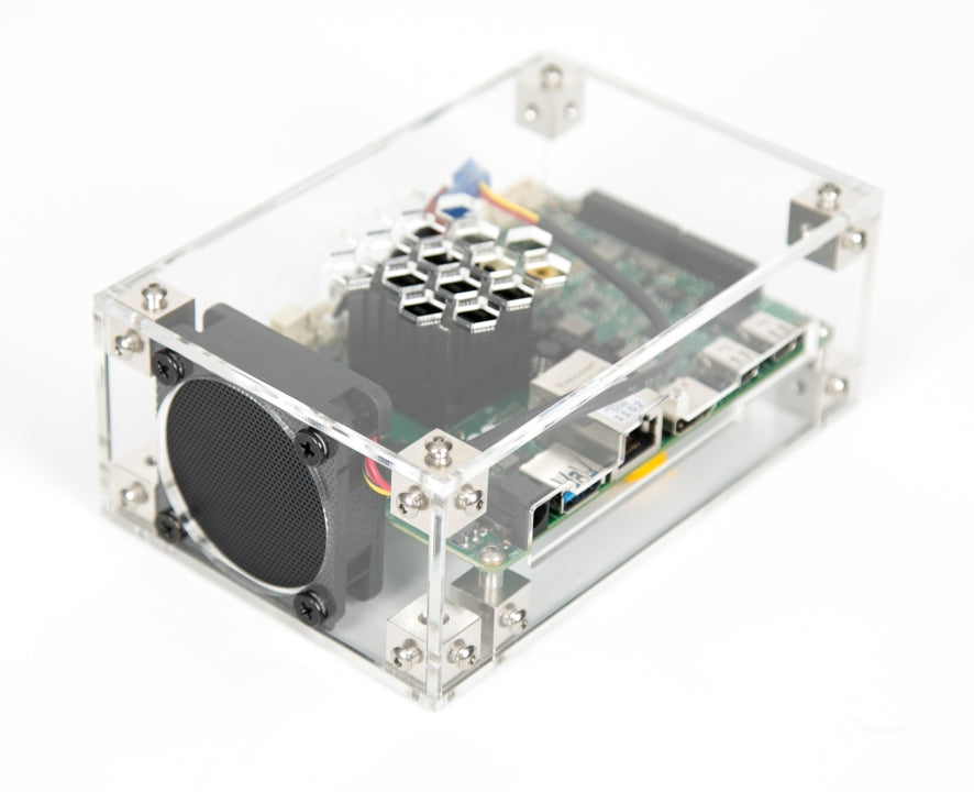 Clear acrylic UD86 case for UDOO x86 makerboards
