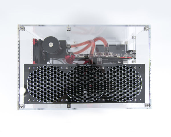 Clear acrylic computer case MATX