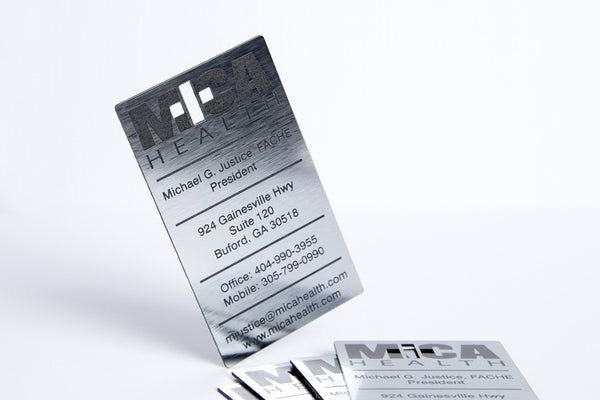 Laser Etched Business Cards with Cut-outs - 50-Count