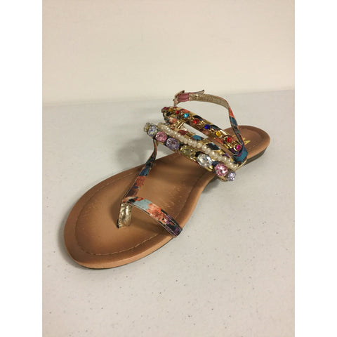 CM Multi Color Sandals Size 9