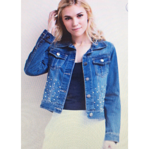L Love Denim Jacket Small Medium Large