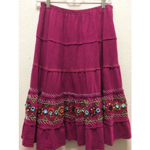 Double D Ranch Fuchsia Skirt Size Small Western Embellished A-Line