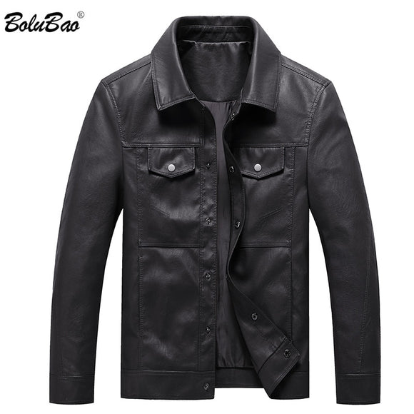 BOLUBAO Fashion Brand Mens Collar Leather Jackets Men's PU Leather - Beltran's Enterprise