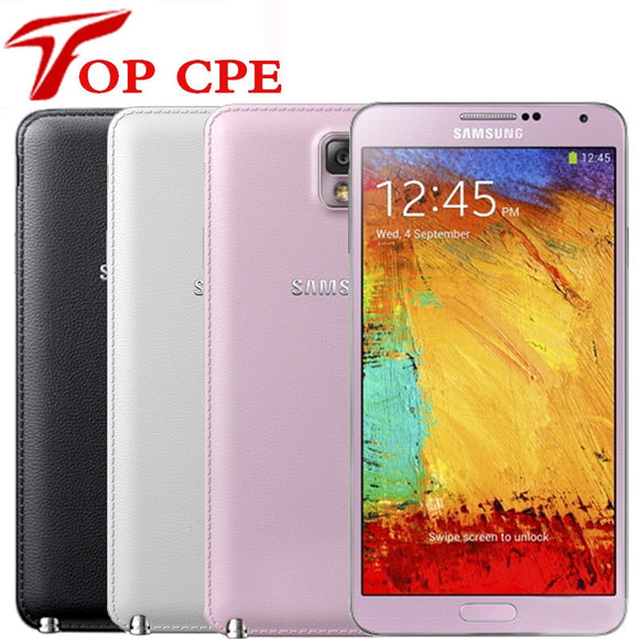 Unlocked Original Samsung Galaxy Note 3  N900A N9005 Mobile phone Quad Core RAM 3GB 13MP WiFi GPS Refurbished 16GB/32GB Phone - Beltran's Enterprise