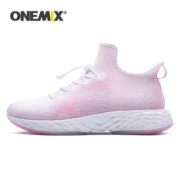 ONEMIX Women Sneakers Shoes 2019 Lifestyle Casual Flat High Quality Knitted Mesh Slip-on Female - Beltran's Enterprise