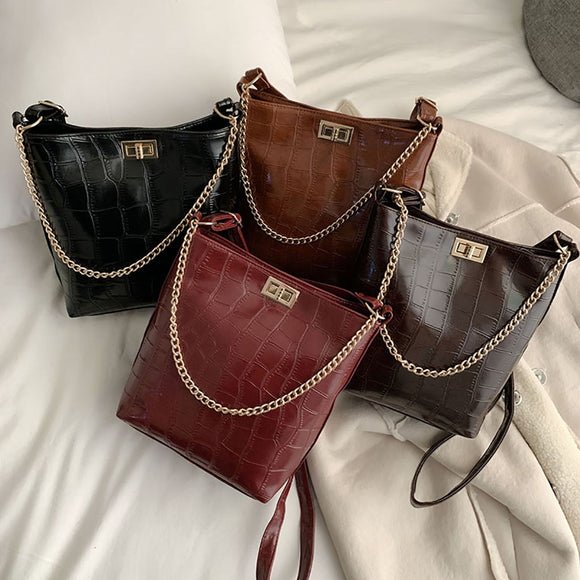 Women Bags 2019 New Women Stone Pattern Shoulder - Beltran's Enterprise