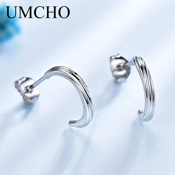 UMCHO Solid 925 Sterling Silver Stud Earrings For Women Wedding - Beltran's Enterprise