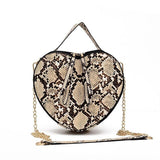 luxury handbags women bags designer fashion women's bag serpentine heart-shaped - Beltran's Enterprise