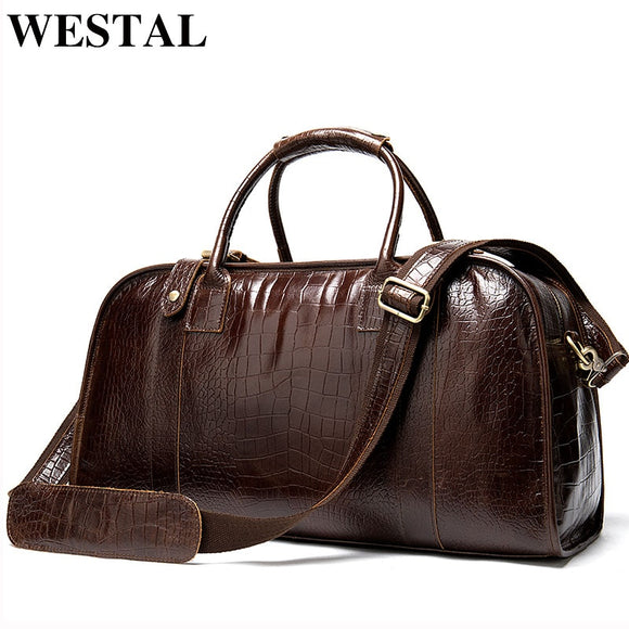 WESTAL men's travel bags genuine leather suitcases and travel bags - Beltran's Enterprise