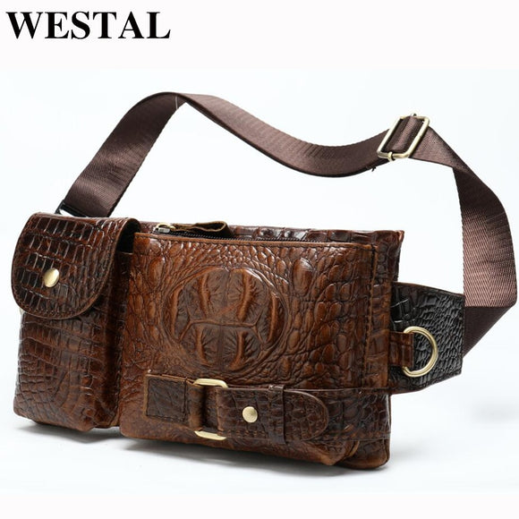 WESTAL Messenger Bag Men Leather Sling Bags for Phone Men's - Beltran's Enterprise