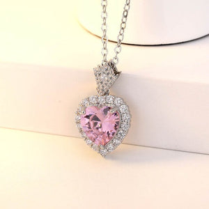 Bague Ringen Fashion Simple Heart Shaped Pendant Necklace - Beltran's Enterprise