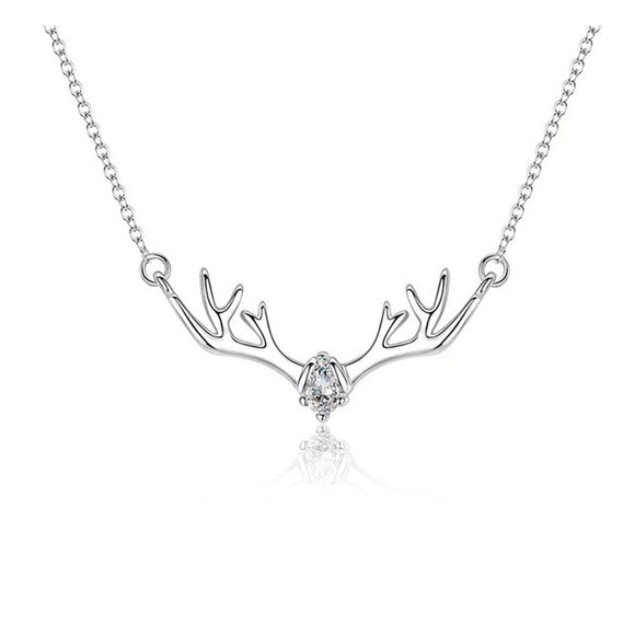 Begua Ringen 925 Silver Multicolored Elk Pendant Necklace Deer Choker Pendants Necklaces - Beltran's Enterprise