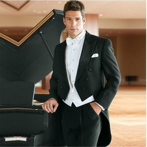 2019 Tailor Made wedding Suits Slim Fit Groom Prom Party Blazer Male Tuxedo Jacket+Pants+Vest - Beltran's Enterprise
