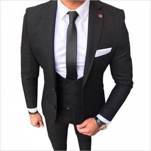 2019 New Arrival Wedding Suits For Groomsmen Best Man Shawl Lapel Groom Tuxedos Mens vest Costume Homme Mariage Terno Slim 3PCS - Beltran's Enterprise