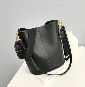 Messenger bag Women Bucket Shoulder Bag large capacity vintage PU Leather ladies handbag - Beltran's Enterprise