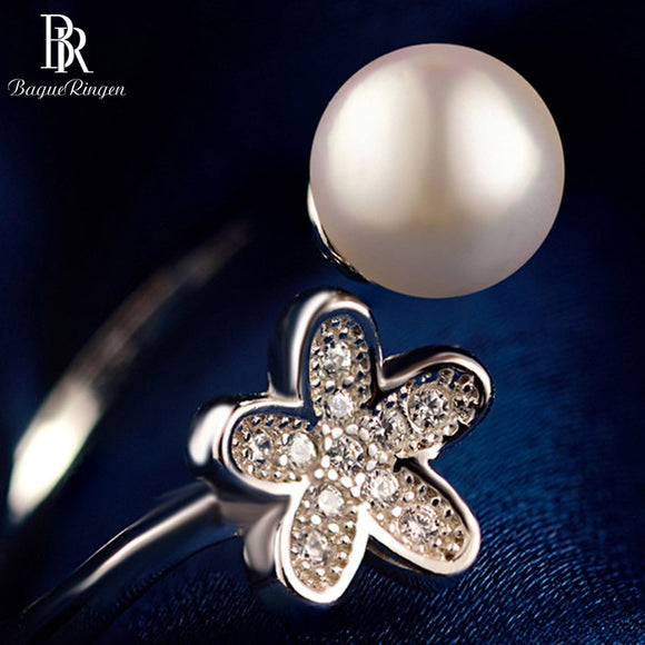 Bague HOT SALE Zircon Flower natural pearl Women's - Beltran's Enterprise