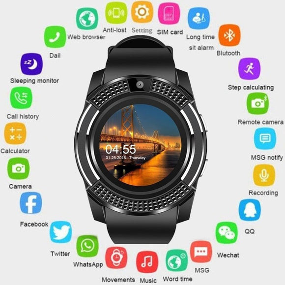 smart watch Bluetooth touch screen Android waterproof sports men and women smart watch - Beltran's Enterprise