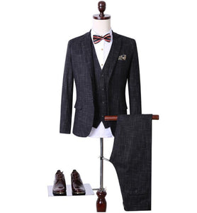 Jacket+Vest+Pants)Slim Fit Wedding Suits For Men Suits With Pants Business Mens - Beltran's Enterprise