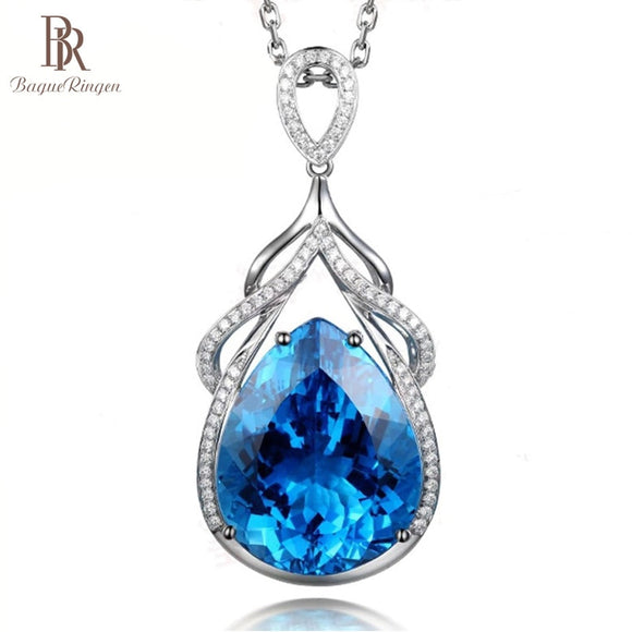 Bague Ringen Luxury Mermaid's Tears Sapphire Necklace for Women - Beltran's Enterprise