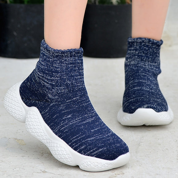 Kids Sneakers Sock High Top Fashion Girls Running Shoes Children Sport Shoes - Beltran's Enterprise