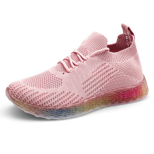 Zapatos De Mujer Women Running Shoes Breathable Mesh Sport Gym Shoes Trainers Lady Flat Basket - Beltran's Enterprise