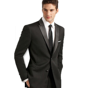 Black Peak Lapel tuxedos Men's groom suits WeddingSuits bridegroom Mens Suits - Beltran's Enterprise