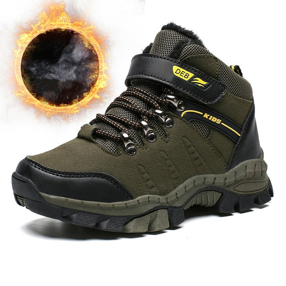 Brand Boots Kids Winter Warm Shoes Army Green Sport Training Shoes Anti-Slip Basket Boys - Beltran's Enterprise
