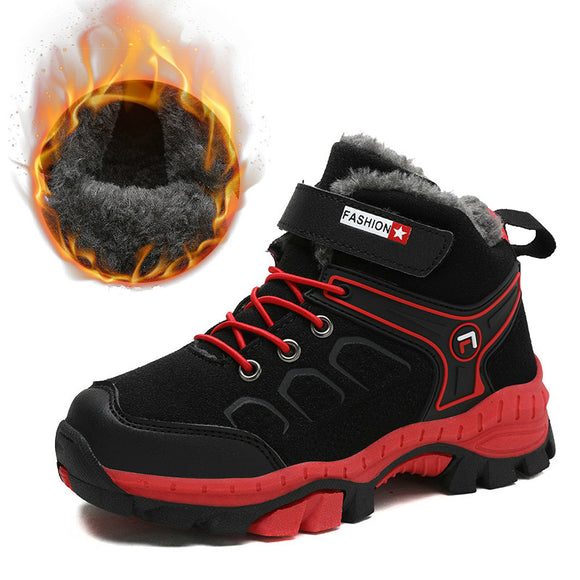 High Top Kids Hiking Shoes Non-slip Claw Boys Winter Basket Sneakers - Beltran's Enterprise