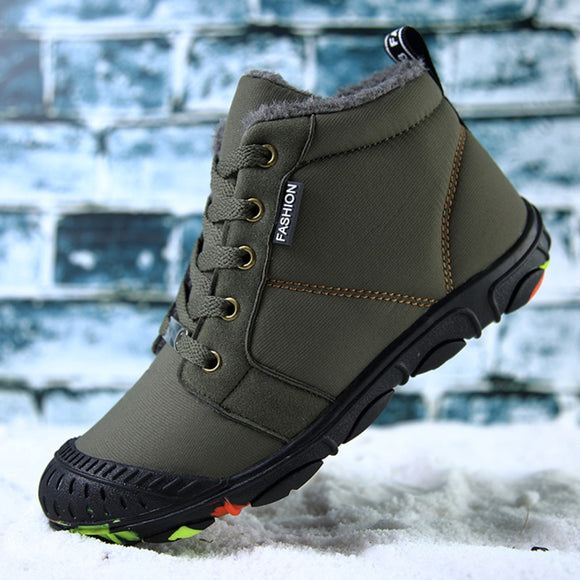 Outdoor Boots Plus Warm Kids Shoes Waterproof Walking Shoes Boys Running Shoes - Beltran's Enterprise