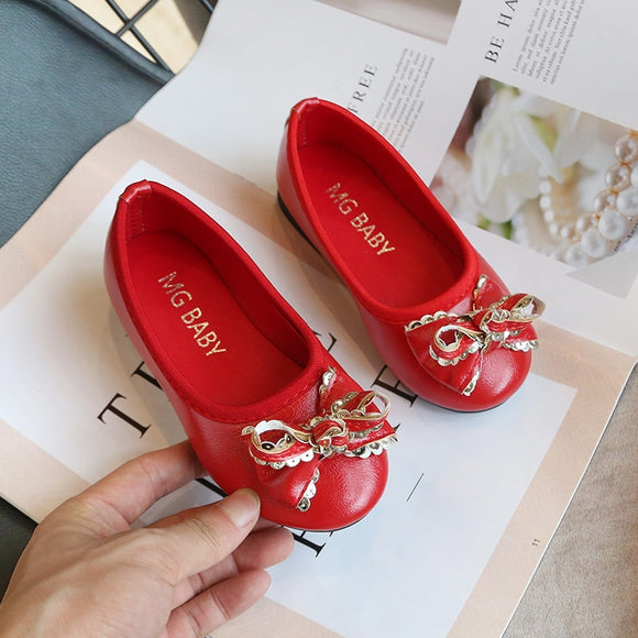 New Leisure Shoes loafers Autumn Baby Girls Leather Shoes Children's Bow Fashion Princess Shoes - Beltran's Enterprise