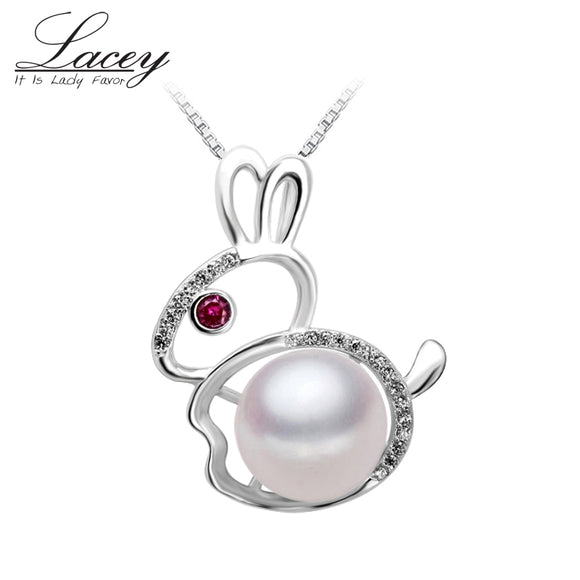 White freshwater Natural pearl pendant 925 sterling silver pearl pendant necklace jewelry - Beltran's Enterprise