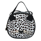 Luxury Cat Handbags Women Bags Leopard Designer PU Leather Ladies Round Messenger Bag - Beltran's Enterprise