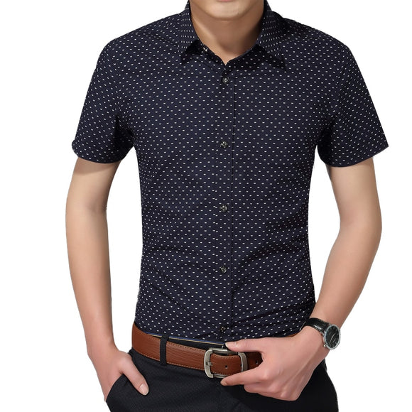 Hot 2020 Summer New Fashion Brand Clothing Men Short Sleeve Shirt Polka Dot - Beltran's Enterprise