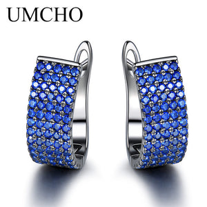 UMCHO Solid 925 Sterling Silver Clip Earrings Luxury Earrings For Women Anniversary Wedding - Beltran's Enterprise