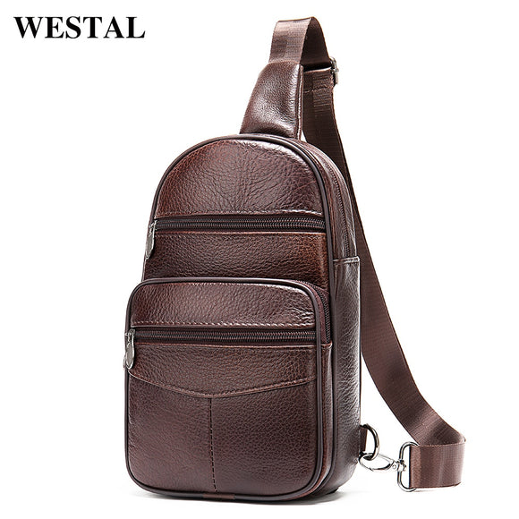 WESTAL Men's Bag Genuine Leather Sling Bags Men Messenger - Beltran's Enterprise
