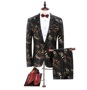 Jacket+Pants 2019 New Arrival High Quality Fashion Single Button Suits Men,Casual Men's Dress Suits - Beltran's Enterprise