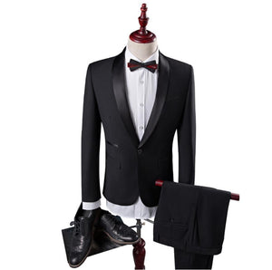 2019 Men's Fashion Coat Slim Wedding Dress Formal Wear Blazer High Quality Suits Men Woolen - Beltran's Enterprise