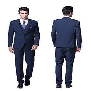 (jacket+vest+pants)2019 Custom Slim Fit 3 Piece Suit One Button men Blazer - Beltran's Enterprise