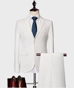 suit men Beige Men Suit Prom Tuxedo Slim Fit 3 Piece Groom Wedding Suits For Men Custom Blazer - Beltran's Enterprise