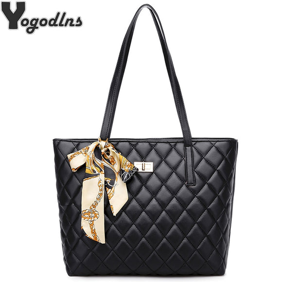 Vintage Women PU Leather Handbag Classic Diamond Lattice Casual Tote Lady - Beltran's Enterprise