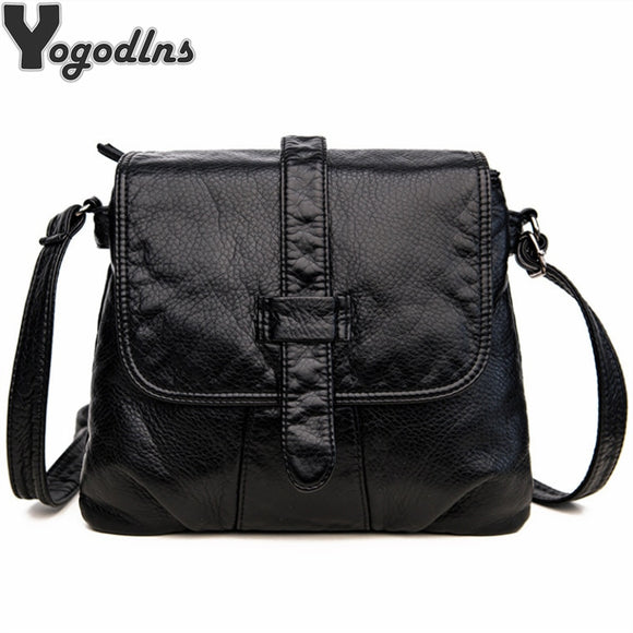 Soft Leather Crossbody Bags For Women Messenger Bags 2019 Vintage Leather Bags - Beltran's Enterprise