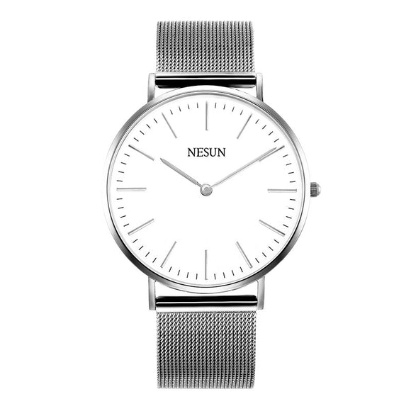Switzerland Nesun Watch Men & Women Luxury Brand Japan MIYOTA Quartz Movement Lover's Watches Sapphire Waterproof clock N8801-W3 - Beltran's Enterprise